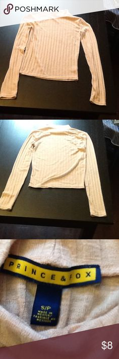 Aeropostale Prince & Fox light pink sweater crop Perfect Condition! Cropped light pink turtle neck, goes just below belly button. Aeropostale Tops Crop Tops