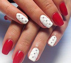 Чарующий красный маникюр (49 фото) - Дизайн ногтей