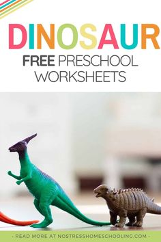 T-Rex, Triceratops how many other dinosaurs can you name? If you are looking for a fun and free dinosaur preschool printable, try these. #dinosaurfreeprintableactivities #freedinosaurprintableworksheets #dinosaurworksheets