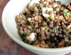Lentil, Onion and Goat Cheese Salad / 30 Delicious Meals In A Bowl (via BuzzFeed Community)