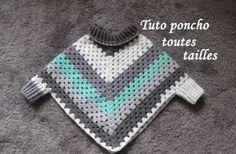 Diy Crafts - Elegant crochet granny square poncho pattern free of granny square poncho XEUZIZL Poncho Au Crochet, Crochet Poncho Patterns, Crochet Granny, Crochet Scarves, Crochet Clothes, Crochet Edgings, Freeform Crochet, Crochet Dresses, Crochet Motif