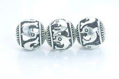jumping dolphin fish metal beads - filigree hollow metal beads - animal alloy round beads - silver metal beads -8-15mm-20pcs