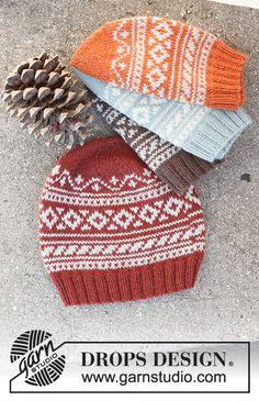 Knitting Patterns Free, Free Knitting, Free Pattern, Crochet Patterns, Drops Design, Drops Karisma, Jersey Jacquard, Knit Crochet, Crochet Hats