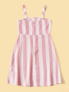 Girls Two Tone High Waist Button Detail Dress – gagokid Baby Dress Design, Frock Design, Dresses Kids Girl, Girl Outfits, Fashion Outfits, Skirts For Kids, Kids Frocks, Crop Top Outfits, Dress Sewing Patterns