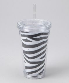 Take a look at this Zebra Rhinestone Tumbler by The Hair Candy Store on #zulily today!