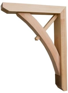 Porch roof bracket support porch kit flat roof porch for Craftsman corbels exterior