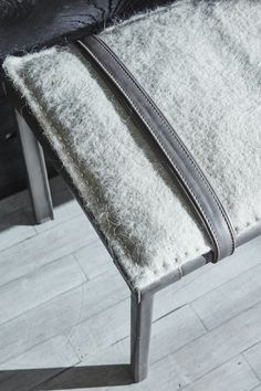 Sable bench: Leather clad frame with naturally dyed llama and merino wool felt cushion.