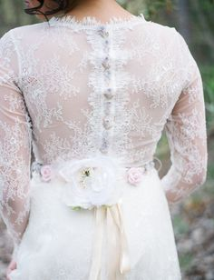 Pretty lace backed dress details {Claire Pettibone}