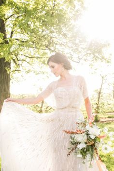 Romantic Wedding Inspiration at Hickory Hill Orchard Gallery - Style Me Pretty
