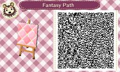 Animal Crossing QR Codes ❤ Pink Fantasy Diamond path Solid Tile #9 of 9 <----