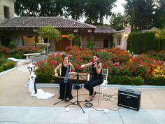 Dueto de violín y chelo. #Boda #Cigarral #Toledo