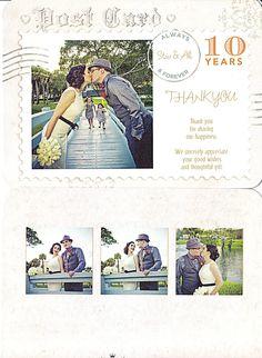 Thank you postcard - wedding anniversary - front & back #renewalofvows
