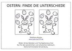 Ostern: Finde die Unterschiede