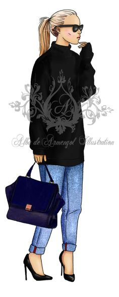 alba de armengol fashion illustration