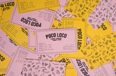 Poco Logo is a Mexican restaurant located in Karlstad, Sweden. We have chosen to give Poco Loco a new identity and created new products and developed a new takeaway concept.