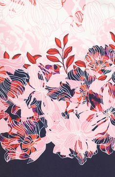 Floral Pattern Illustration – My ideas, my pins 2020 Design Textile, Design Floral, Motif Floral, Textile Patterns, Textile Prints, Print Patterns, Floral Prints, Floral Patterns, Design Design