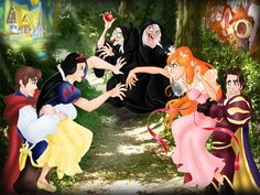 disney pocket princesses comics | Disney Princess Snow White vs Giselle