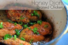 Honey Dijon Braised Chicken | Aunt Bee's Recipes