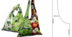 Ceci EuQfiz: Bolsa fácil de tecido com molde