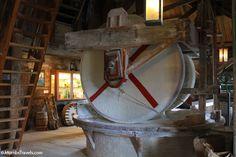 Inside a working windmill at Zaanse Schans