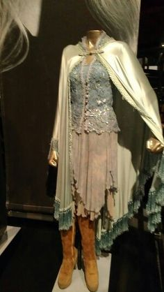 Stevie Nicks Stage Outfits Hard Rock Cafe,  Cleveland.  One of my favorite Stevie outfits,  with the hanky hem skirt,  and floating cape.  Gypsy,  boho,  hippie rock and roll ballerina.