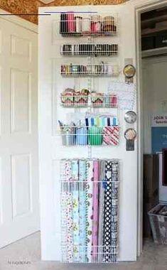 #housemoving Door Storage, Craft Storage, Bedroom Storage, Locker Storage, Closet Storage, Storage Ideas, Gift Wrap Storage, Ikea Closet, Basement Storage