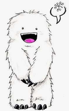 Adorable Fuzzy Yeti by Arricia-sama on DeviantArt Monster Tattoo, Monster Drawing, Monster Art, Yeti Bigfoot, Conversational Prints, Monster Illustration, Cute Monsters, Drawing Skills, Doodle Drawings