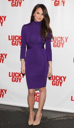 Chrissy Teigen all purple