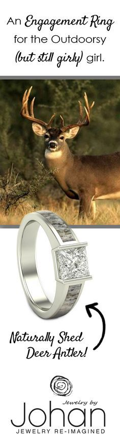 Engagement Rings and Wedding Bands made from real, naturally shed Deer Antler - Jewelry by Johan