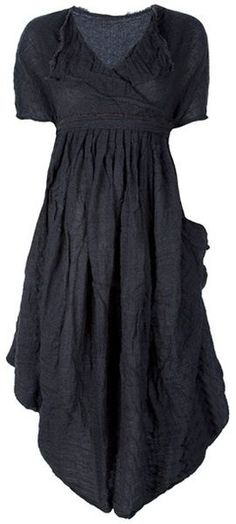 Daniela Gregis Gray Pleated Dress.