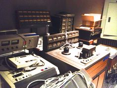 Here's a nice selection of old analog tape machines from the storage room at MTSU. MCIs, Studers, Otaris; the only thing I don't see is a 3M. #recording #musicians