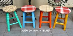 Vamos Reciclar? Bancos de Madeira Transformados - com Passo a Passo by ALÉM DA RUA ATELIER/Veronica Kraemer, via Flickr