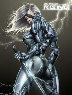 raiden rising mgs metal gear solid character game fan art by_b03di