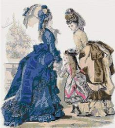 Victorian ladies cross stitch kits