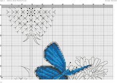 Бабочки на одуванчиках(вышивка)