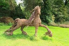 Wicker horse for the wicker man to ride