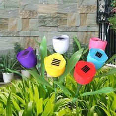 Solar Powered LED Garden Tulip Flower Light (4/8 Packs)