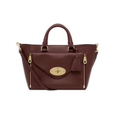 Mulberry - Small Willow Tote in Oxblood Silky Classic Calf with Soft Gold
