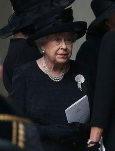 "mea-gloria-fides: ""HM The Queen attending a funeral service at St Paul's Church, Kensington, 27 June 2017 """