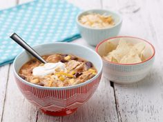 Recipe of the Day: Trisha's Chicken Tortilla Soup        Even the most gung-ho trick-or-treaters need sustenance beyond fun-size candy bars and handfuls of sour gummies. Trisha's tried-and-true soup, brimming with beans, corn and store-bought fajita seasoning, is so simple, it won't get in the way of costume prep.