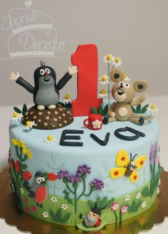 krtek Panda Cakes, The Mole, Funny Cake, Book Cakes, Girl Cakes, Love Cake, Cake Tutorial, Something Sweet, Creative Cakes