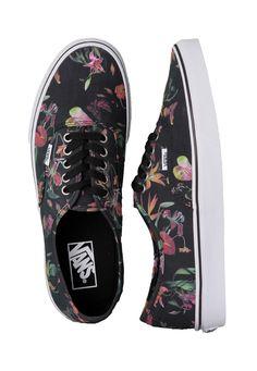 Vans - Authentic Black Bloom Black/True White - Schuhe - Vans - Offizieller Streetwear Online Shop - Impericon.com