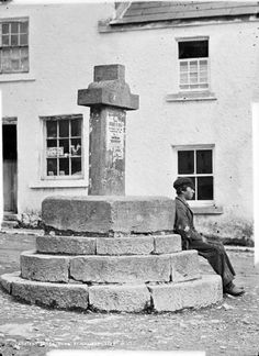 Market Cross, Cong by National Library of Ireland Cong Ireland, The Quiet Man, County Mayo, Old Irish, Irish People, Emerald Isle, Ireland Travel, Shades Of Green, Places Ive Been