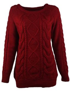 Hengsong Womens Retro Casual Loose Jumper Knitted Sweater (Wine Red) Hengsong http://www.amazon.com/dp/B00HWNQMG4/ref=cm_sw_r_pi_dp_.mGhub1DXRNBS