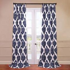Ikat Multi 50 x 120-Inch Printed Curtain