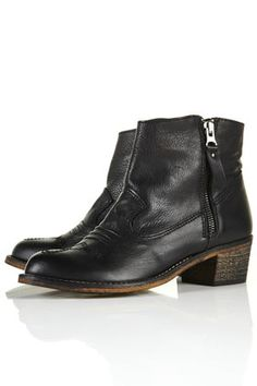 side zip ankle boots from topshop
