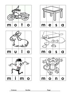 Imagen relacionada Preschool Writing, Kindergarten Math Worksheets, Preschool Lessons, Kindergarten Reading, Spanish Worksheets, Pre K Activities, Language Activities, Preschool Activities, Spanish Lessons For Kids