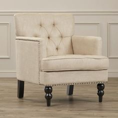 Accent Arm Chair Tufted Upholstered Living Room Side Club Traditional Armchairs #Alcott #Traditional