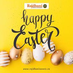 Rajdhani Sweets & Restaurant - one of the best Indian vegetarian food restaurant in Brampton, Etobicoke, Torbram, Bovaird. Happy Easter, Blessings, Celebrations, Vegetarian Recipes, Sweets, Restaurant, Food, Sweet Pastries, Twist Restaurant