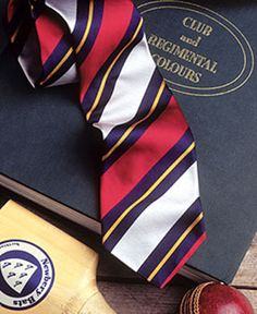A regimental striped tie